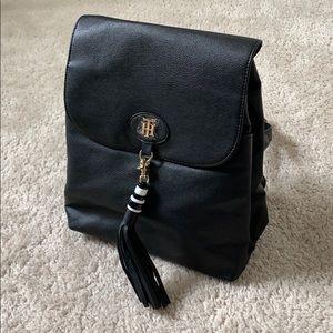 Vegan Leather Tommy Hilfiger Black Backpack Purse
